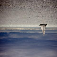 the world is upside down (panda.foto) Tags: ocean sea lake water clouds sailboat boat sailing upsidedown unusual
