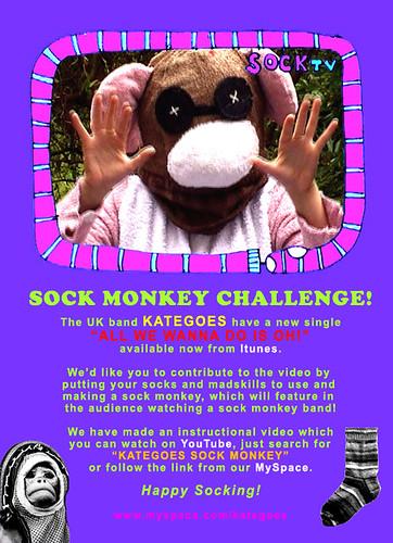 KATEGOES Sockmonkey Challenge!
