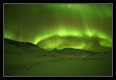 Green Sky (Kiddi Einars) Tags: sky mountain mountains green greenland auroraborealis grönland northenlights norðurljós grænland abcgroup visipix