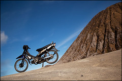 motorbike - Mt Bromo (Maciej Dakowicz) Tags: sea sky tourism nature bike indonesia volcano java asia motorbike crater moped bromo mountbromo mtbromo souheasasia