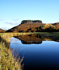 East Lothian - Hill at the Whiteadder Reservoir from the river (pariscub) Tags: reflection water river landscape scotland edinburgh scottish reservoir east hills lothian gifford whiteadder