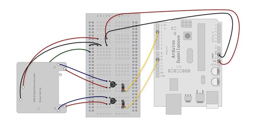 Schematic of SAW III Recorder w/ Arduino