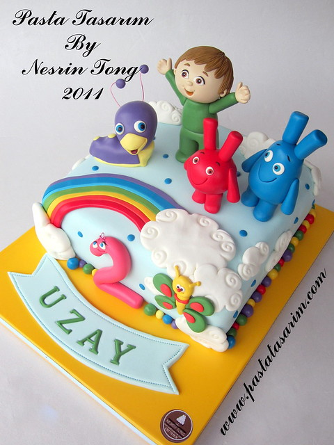 BABY TV CHARACTERS CAKE - UZAY 2ND BIRTHDAY
