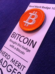 I got my Bitcoin @nerdmeritbadge today!