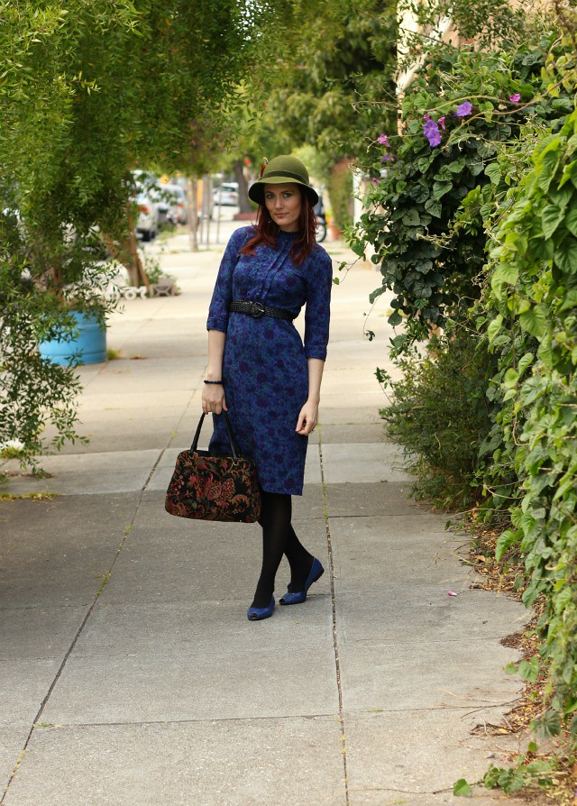 blue vintage dress 1