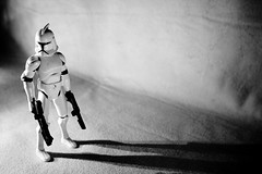 Long Shadow (Brady Withers) Tags: shadow blackandwhite bw white canon toy toys actionfigure starwars wideangle theforce thedarkside rebelxsi bwsterlingphotography