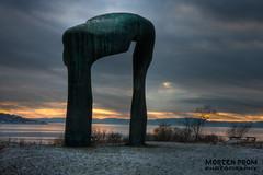 Gateway to My World (mortenprom) Tags: ocean winter light sunset sea s
