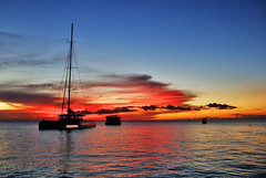 End of day... (jendayee) Tags: sunset sea fab sky clouds boats martinique mywinners abigfave inspiredbyyourbeauty