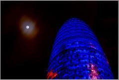 La torre y la luna (dasoaz) Tags: barcelona nikon nightshot nocturna torreagbar agbar d60 nikond60 dasoaz