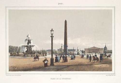 000a- Paris- otra vista de la plaza de la Concordia 1858