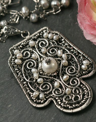 THE RETURN OF INNOCENCE (SusannaSegerholm) Tags: necklace jewelry pearls romantic swirly edwardian intricate filigree sterlingsilver suzyqjewelry