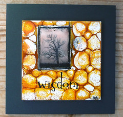 wisdom (lvhlee) Tags: tree yellow painting circles wax wisdom encaustic beeswax waxworx wewaxart