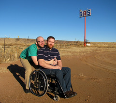Squeezing One Out (Yieldsigns76) Tags: arizona me wheelchair gas craig craigers yieldsigns