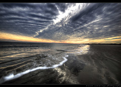 Finding a Balance (Mason Cummings) Tags: ocean sky beach water clouds sand nikon afternoon patterns southcarolina symmetry hdr shantytown stringcheeseincident nd6 planetearth d300 sullivansisland photomatix sigma1020 naturalbalance