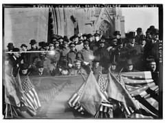 Edwards, Crimmins, Farley, Sulzer, (St. Pat's Day, '13)  (LOC) (The Library of Congress) Tags: blackandwhite church cathedral hats stpatrickscathedral 5thavenue patriotic flags parade libraryofcongress uniforms fifthavenue edwards farley stpatricksday 5thave 1913 mustaches bunting oldglory sulzer stpatricksdayparade tophats crimmins flages xmlns:dc=httppurlorgdcelements11 bainnewsservice williamsulzer governorwilliamsulzer johncardinalmurphyfarley johnmurphyfarley greatmustachesoftheloc dc:identifier=httphdllocgovlocpnpggbain12760 johndcrimmins johndanielcrimmins monsignorjamesmooney