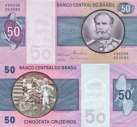Brazil P-194, 50 Cruzeiros (1970-81)