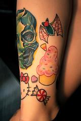 IMG_7238 (Venessa Nina) Tags: hello flowers woman hot cute sexy girl tattoo ink photography skull model industrial dress cupcake nina alison murphy inked tats heals kity venessa fivefootmohawk venessaninaphotography