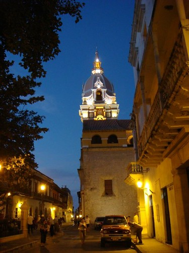 Cartagena's Cathedral by dusk...