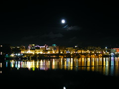 Victoria B.C Skyline (Brandon Godfrey) Tags: moon building skyline night buildings reflections downtown bc columbia victoria pacificnorthwest northamerica british songhees totalphoto thechallengegame challengegamewinner victoriabcskyline