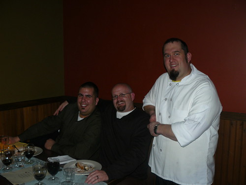 Chef Erik Wood on the right, with Port/Lost Abbeys Tomme Arthur in the middle, and Neil from Click Distribution on the left.
