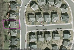 #2 house & property line (image by Google Earth, marking by me)