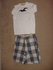 Blue and White Hollister Outfit