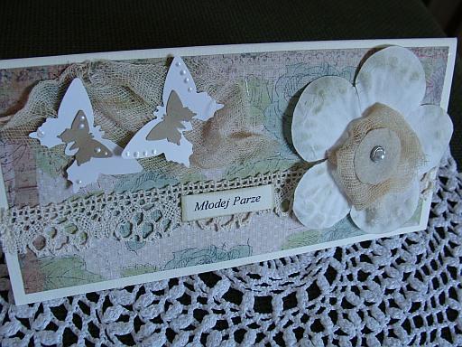 kartka ślubna - pastele