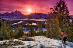 Taking It All In! (James Neeley) Tags: sunset nature landscape bravo wyoming grandtetons tetons hdr grandtetonnationalpark snakeriveroverlook 5xp mywinners jamesneeley