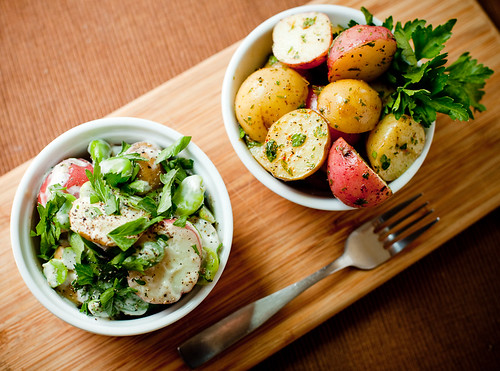Potato Salad, two ways