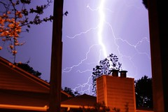 113/365 Lightning! (The Suss-Man (Mike)) Tags: storm nature weather night georgia explore lightning norcross lightningstrike weatherphotography platinumphoto thesussman project3661 sonyalphadslra200 holycrapicantbelieveigotthis