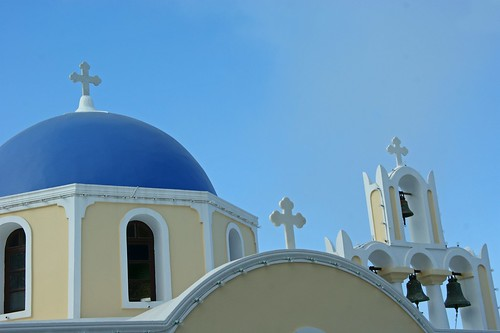 Thira, Santorini.  a church
