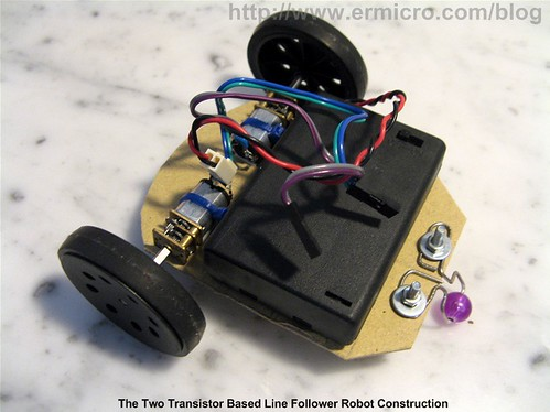 Build Your Own Transistor Based Mobile Line Follower Robot (02)
