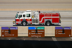 Phoenix Fire Department Engine 19 At Phoenix Sky Harbor (zonaphoto) Tags: arizona phoenix fire airport engine az skyharbor zonaphotocom