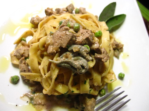 Tagliatelle with Calves Liver, Sage Cream Sauce