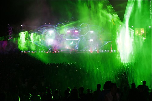 Lights, fireworks  and laser at the Mainstage
