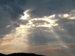 Sun rays (Karmen Smolnikar) Tags: light summer sun storm clouds canon circle ray slovenia rays slovenija sunrays sunbeams nebo nevihta justclouds domžale flickrelite oblaki canonpowershotg9 fotocompetition fotocompetitionbronze žarki ponevihti