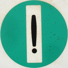 ! (mag3737) Tags: green mark marker squaredcircle squircle exclamation punctuation exclamationmark