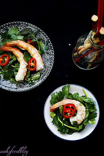 Asian-style Watercress and Prawn Salad