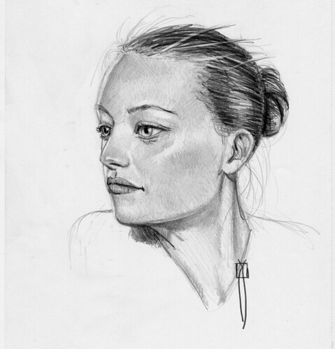 retrato de perfil