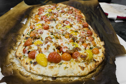 Long View Cherry Tomato Pizza