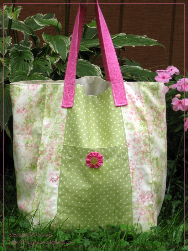 Jane Market Bag in pinks and greens