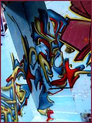 Dja'louz (Chrixcel) Tags: door paris stairs graffiti 3d tag bleu porte escalier ermitage anartchik djalouz