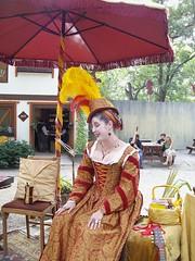 Miss Merrilee Effingham (Laurette Victoria) Tags: red woman hat yellow wisconsin bristol gold costume fair corset renfaire cleavage renaissancefaire