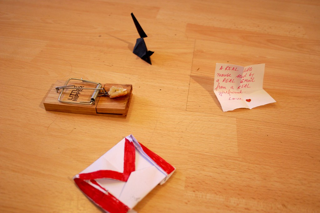 Origami mouse and mousetrap