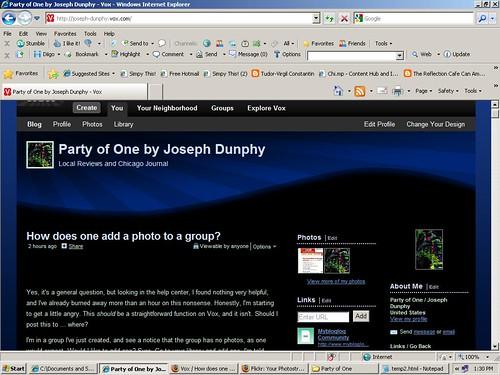 Vox Blog, After I deleted the screenshots