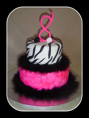 Admirable Kailees Funky 8Th Birthday Cake A Photo On Flickriver Personalised Birthday Cards Veneteletsinfo