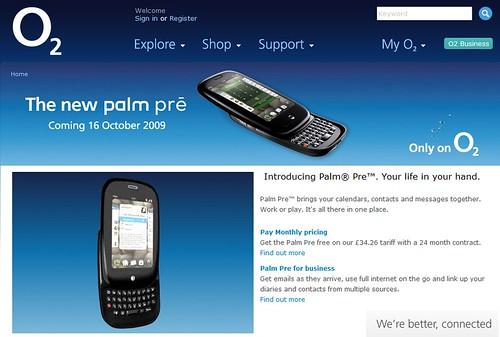 O2 Palm Pre