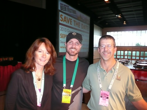 Nancy Johnson, Justin Crossley & Chris Swersey Before the GABF Awards Ceremony