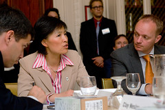 Changhua Wu speaking at EV Roundtable (TheClimateGroup) Tags: electricvehicles shaiagassi betterplace stevehoward theclimategroup climateweeknyc