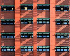 Edmonton Flats (Andrea Kennard) Tags: uk windows shadow building london glass sunshine architecture edmonton bricks enfield
